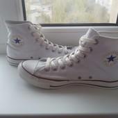 Крутые белые высокие кеды от Converse, размер 42.5