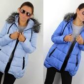 Асиметричный тёплый зимний женский пуховик
