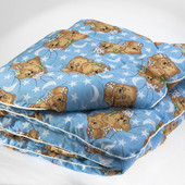 Одеяло детское стеганное, наполнитель-шерсть