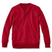 Пуловер из тонкого трикотажа, красный от ТСм , размер 54  . 50 % шерсть мериноса