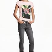 Твиловые брюки с вышивкой (8-9 лет) H&M