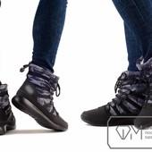 Ботинки женские на искусственном меху Модель № : W3432