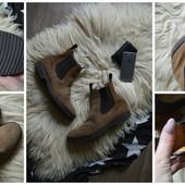 Крутые мужские замшевые ботинки-челси,р-р 45