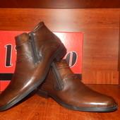Мужские кожаные зимние сапоги-ботинки L-Niko