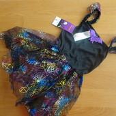 Платье летучая мышь на хэллоуин. По бирке на 3-4 года, маломерит.