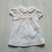 Стильное вельветовое платье для маленькой принцессы. Zara. Размер 3-6 месяцев.