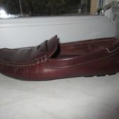 Кожаные мокасины туфли Bass 44 р.
