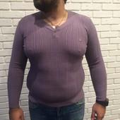 Мужской свитер сиреневый