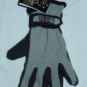 Двойные флисовые перчатки на среднюю мужскую руку,небольшую