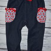 Штанишки штаны брюки стрейчевые под джинс 1 - 2 года 90 см