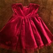 Нарядное платье George 3-6 мес