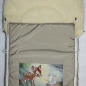 Мешок для санок на овчине, готовимся к зиме зарание)))