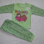 Пижамы утеплённые для девочек и мальчиков