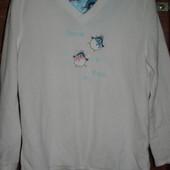 Реглан флисовый,пижамный,женский, размер S