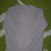 Теплый натуральный свитер 100% шерсть, размер М L