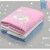 Одеяло детское велюр+хлопок Бемби