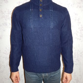 Hugo Boss свитер мужской с горлом 50% шерсть стильный модный рL