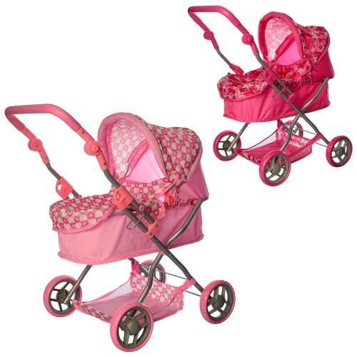 Высокая детская коляска для кукол melogo 9680, 70см фото №1