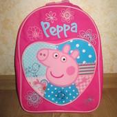 Детский рюкзачок (рюкзак)  Свинка Пеппа (с кармашком)