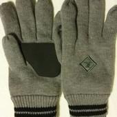 Теплые вязанные перчатки на флисе , тм такко (германия) ,размер 8.5/9.5