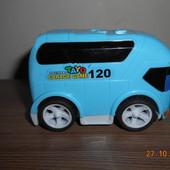 Инерционный автобус, резиновые колеса, размер 9 х 5 х 5,5 см