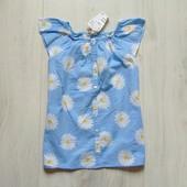 Новая блуза в цветочный принт для девочки. H&M. Размер 7-8 лет