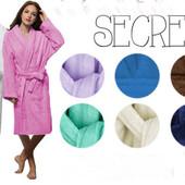Мягкий женский банный халат
