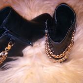 Ботинки с цепью