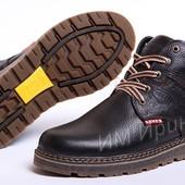 Ботинки мужские кожаные Levis Timberwolf Skin - реплика