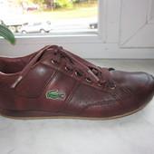 Кожаные кроссовки Lacoste 39 р.