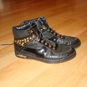 Кожаные ботинки демисезонные 38р