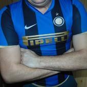 Фирменная спортивная оригинал футболка Nike.л .Ф. Интер .11-15 років .