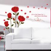 Наклейки на стену Красные розы