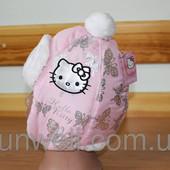Детская зимняя шапка Hello Kitty, Sun city р.52, 54
