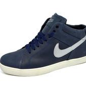 Зимние кроссовки Nike на меху, натур кожа
