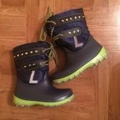 Зимові чобітки на овчині р27, знижена ціна
