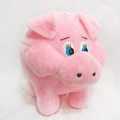 Мягкая игрушка Поросенок с карманом копилка, свинка для денег