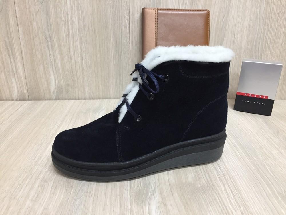 Новые зимние женские ботинки,Натуральный замш и мех фото №1