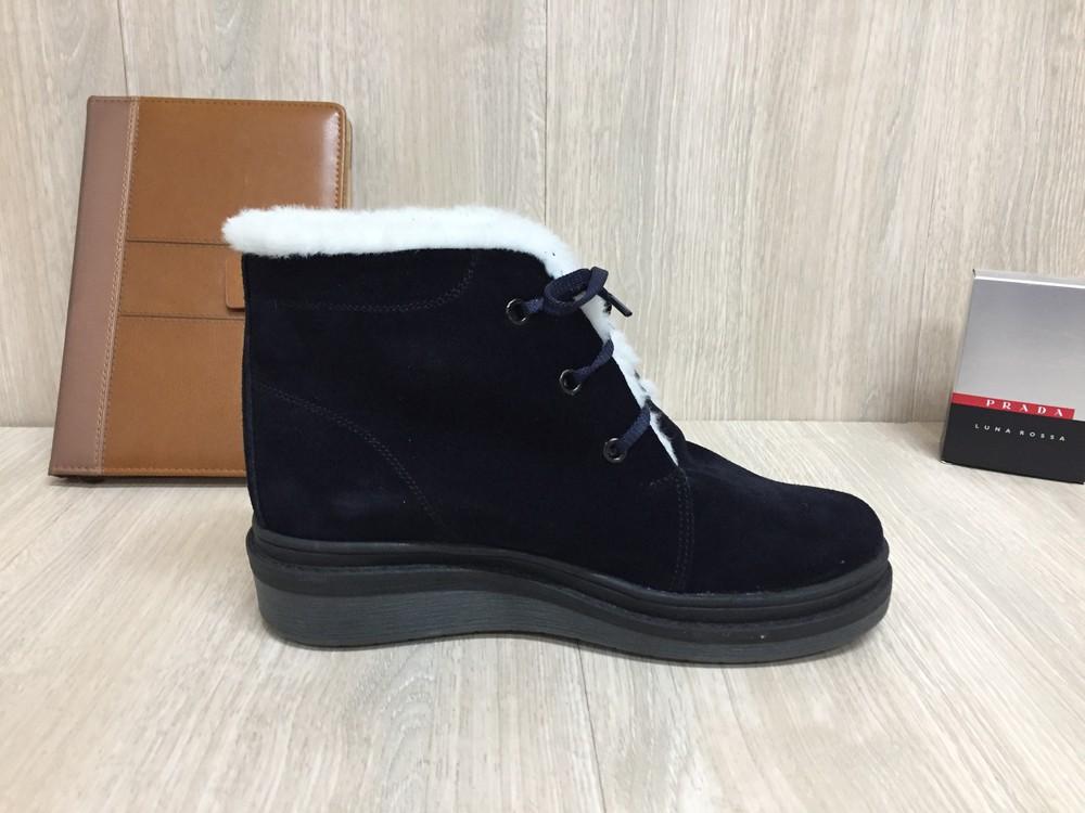 Новые зимние женские ботинки,Натуральный замш и мех фото №2