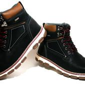 Зимние ботинки Badoxx Польша р.41-46 MXC-7244 black\red
