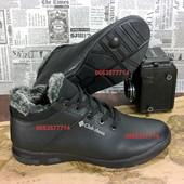 Комфортные мужские кожаные зимние ботинки, высокое качество кожи,  Идеальная колодка мод 630