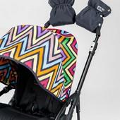 Подвійна універсальна муфта для колясок. Доречі цвет серый