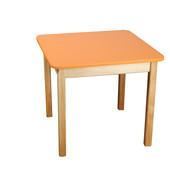 Стол деревянный цветной, Финекс (Оранжевый)