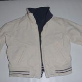 двухсторонняя куртка ветровка на 6-12 мес