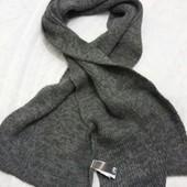 Вязанный  мужский шарф от ТСМ(германия),  цвет серый