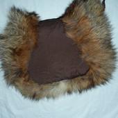 Теплющая пуховая муфта с натуральным мехом
