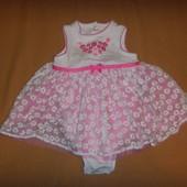 Платье - боди  little me на малышку 12 месяцев