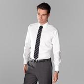 Белая рубашка 100% хлопок Тсм Tchibo ворот 43/44