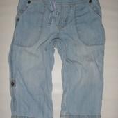 джинсы-бриджи (летние) на 9-12 мес