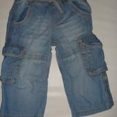 джинсы-бриджи на 1-2 года